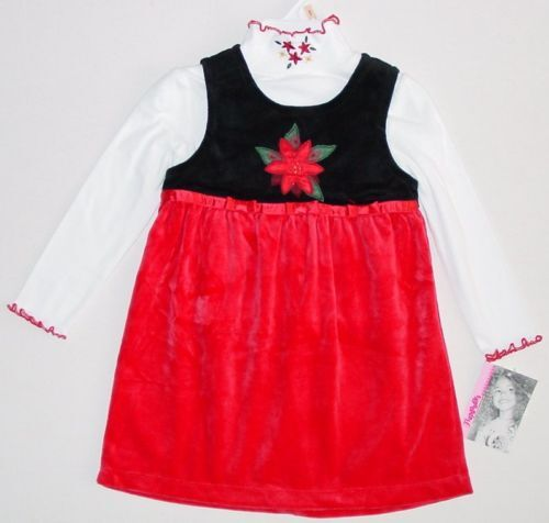 NWT Flapdoodles HOLIDAY PARTY Jumper Dress Set 3T 4T