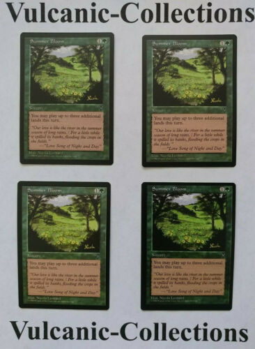 Play Set! Summer Bloom x4 Visions Magic the Gathering Near Mint Free Shipping