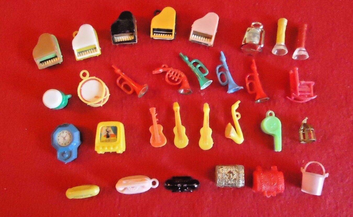 Vintage Miniatures Musical Instruments Telephones Treasure Chests Lenticular TV