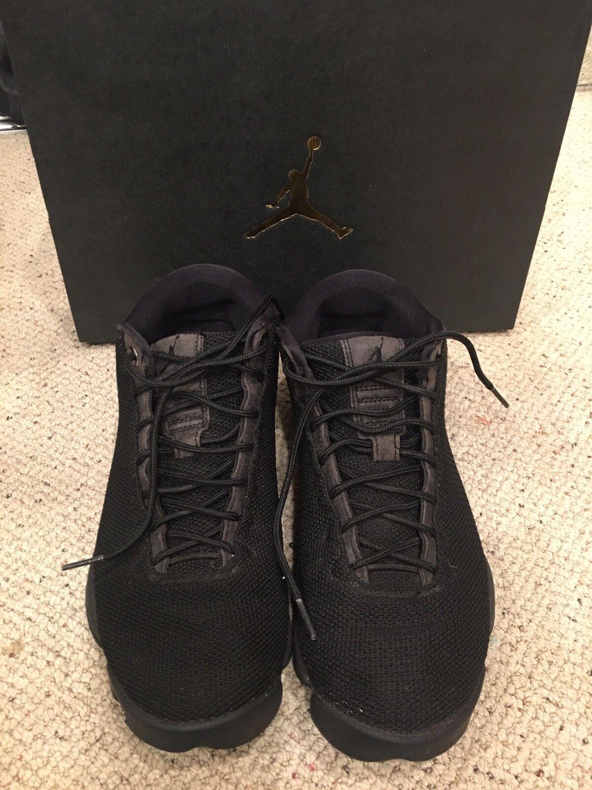 NIKE AIR JORDAN Horizon Low Triple Black Men's shoes Limited 845098-010 SIZE 8.5