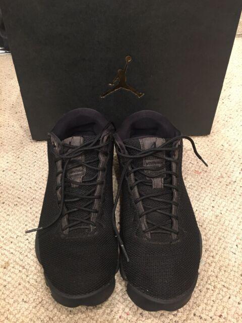 cb0f9a4b7250 NIKE AIR JORDAN Horizon Low Triple Black Men s Shoes Limited 845098-010 SIZE  8.5