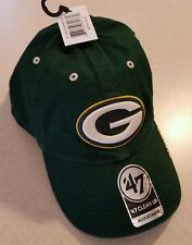 NWT 47 Brand NFL GREEN BAY PACKERS Adult Brim Cap Hat One Size STRAP BACK #23517