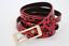 Women Narrow Waisted Animal Print Red Panther Black Spots Cute Belt Size L XL