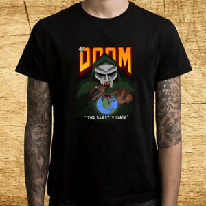 Details about New MF Doom Hip Hop The Illest Villain Logo Men's Black  T-Shirt Size S-3XL