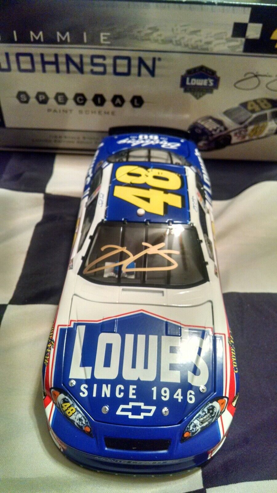 2006 Jimmie Johnson Autographed  48 Lowes 60th Anniversary 1 24