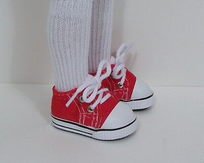 "Debs WHITE Canvas Tennis CF Doll Shoes For Dianna Effner 13/"" Little Darling"