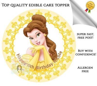 princess belle cake topper belle birthday decor Belle birthday Beauty and the beast cake topper princess cake topper