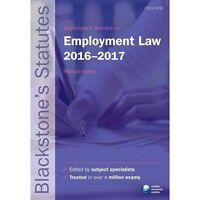 Blackstone's Statutes on Employment Law 2016-2017 9780198768265