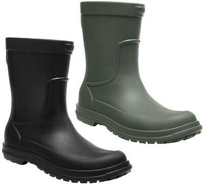 Crocs todo Fundido Botas De Lluvia Para Hombre Wellingtons Suave Acolchado Wellie Jardín Reino Unido 6-12