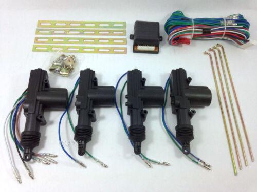 12v Centrale 4 Motos Verrouillage Porte Kit Remplacement 360° Degrés Voiture