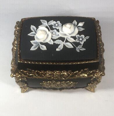 Splendid Ny New York Music Box Asian White Rose Jewelry Sankyo Japanese Signed Ebay