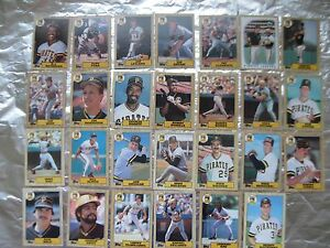 PIRATES-Cards-5-TOPPS-TEAM-SETS-1986-1987-1988-1989-1990-BARRY-BONDS-ROOKIE