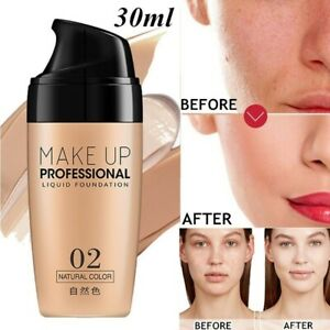 Professional-Face-Base-Liquid-Foundation-Natural-Concealer-Matte-Lasting-Primer