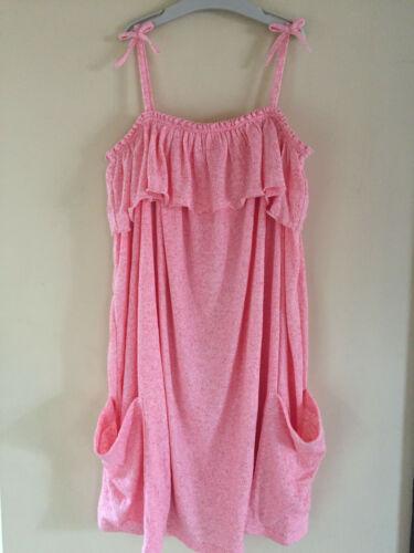 BNWT NEXT Girls Peachy Pink Jersey Summer Dress