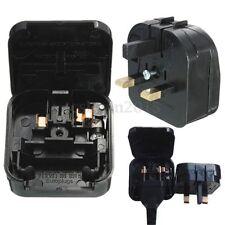 1x Euro Converter Adaptor EU 2 to 3 Pin Plug UK Travel Mains Power Connections
