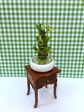 DOLLHOUSE MINIATURE CHINESE BAMBOO IN PORCELAIN  POT (ONLY)