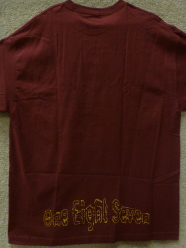 "187 Inc Men T-shirt /""Avenue Liberty/"" Color Maroon"