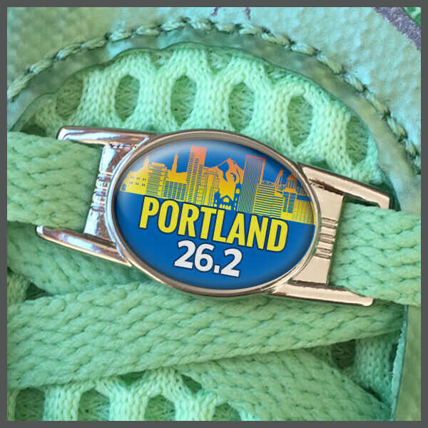 Portland 26.2 Marathon Runners Shoelace Shoe Charm or Zipper Pull