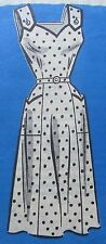 1940s Vintage Anne Adams 4688 Pattern * Sun Dress Pockets Straps Belt sz 14 1/2