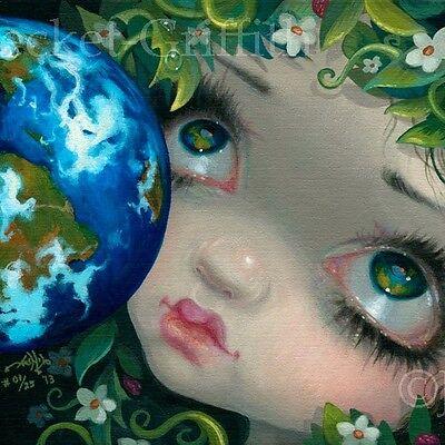 Faces of Faery 216 Jasmine Becket-Griffith art CANVAS PRINT Earth fairy pop art