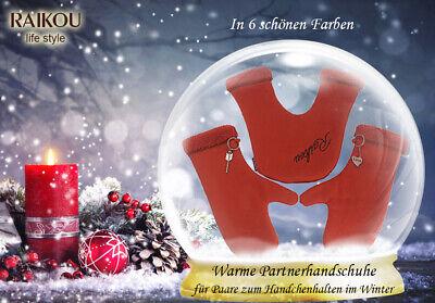 one size RAIKOU Warme Partnerhandschuhe zum H/ändchenhalten im Winter