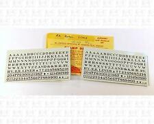 Champ HO Decals Black 5/32 Inch Railroad Roman Letter Alphabet Set LB-20