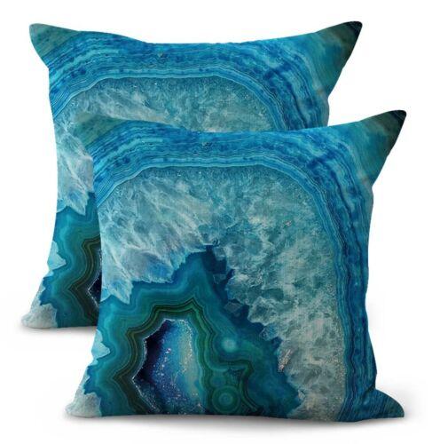 US Vendeur-Set de 2 bon marché Throw Pillow ensembles Rock Quartz Agate marbre cover