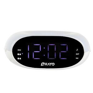 digital fm radio home dual alarm clock night light sleep timer snooze function ebay. Black Bedroom Furniture Sets. Home Design Ideas