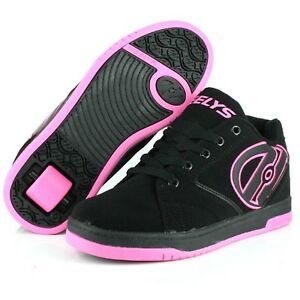 GIRL-039-S-HEELYS-PROPEL-2-0-770291H-WHEELIES-ROLLER-SKATE-SHOES-BLACK-PINK-TRAINERS
