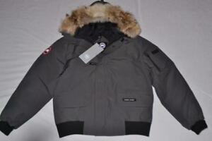 CANADA-GOOSE-MEN-039-S-CHILLIWACK-BOMBER-JACKET-GRAPHITE-GREY-XL-XLARGE-AUTHENTIC
