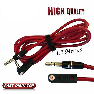 3.5mm YP Brand AUX Male to Male Stereo Jack Headphone Speaker Gold Lead Cable