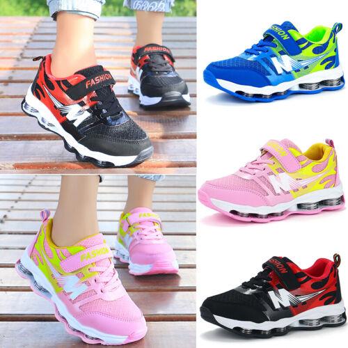 Boys Girls School Running Skate Shoes Casual Trainers Hook Loop Sports Sneakers