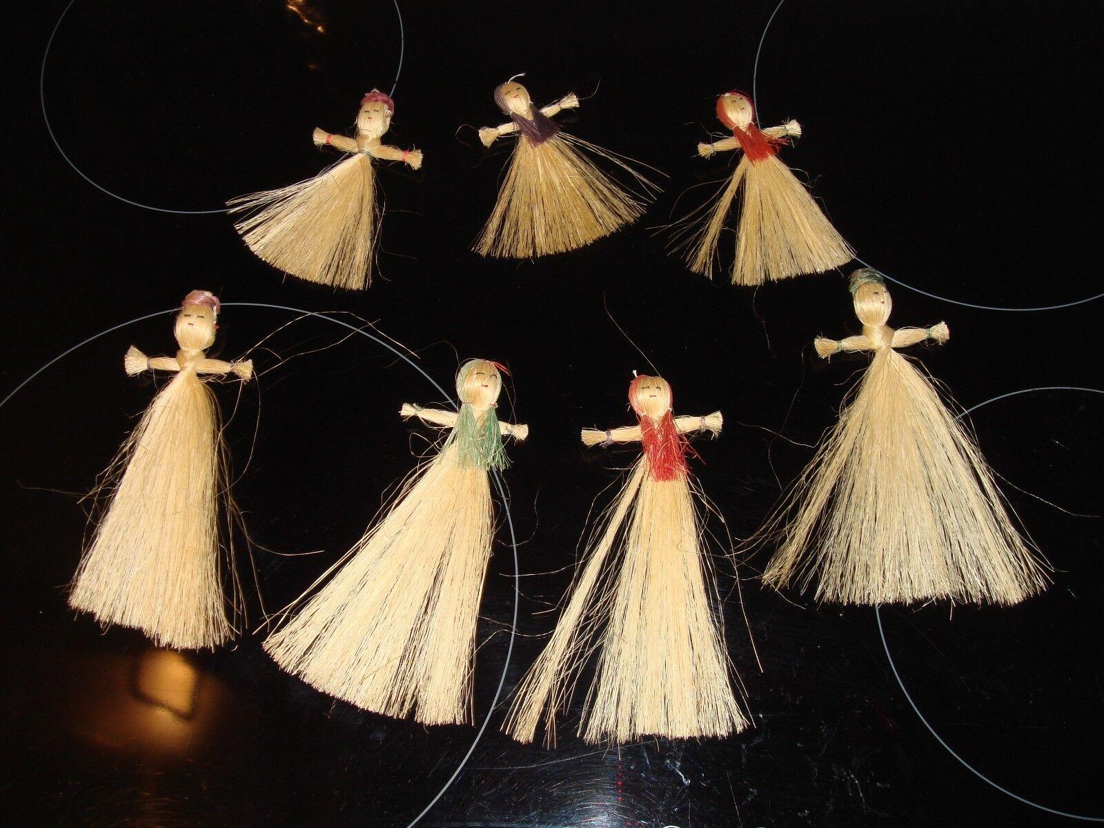 Set di Sette esile realizzato a mano mano bambole fatte a mano a artigianale naturale unico minimalista 757246