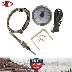 SAAS-Exhaust-Temp-Pyro-Gauge-White-Face-0-900-52mm-Multi-Colour-Sender-amp-Kit