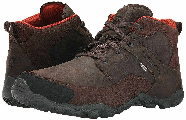Para hombres Cuero  MERRELL Telluride Impermeable Para Senderismo y Informal botas al Tobillo Uk 11  más vendido