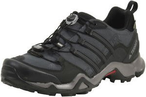 uk availability a31dc 35f9a Image is loading Adidas-Terrex-Swift-R-GTX-Dark-Grey-Black-
