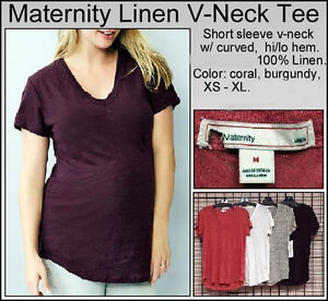 784c35e01ead3 New Gap Maternity Linen V-Neck Top Tee Women's NWOT Size sz XS S M L ...