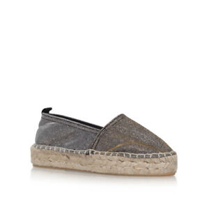 Carvela Kurt Geiger SUPER espadrillas bronzo UK 4 EU 37 LN36 35