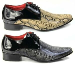 Herren Italienischer Designer Formelle Schuhe Schlangenhaut Spitz