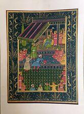 Vintage Indo Persian Islamic Mughal Miniature Painting Antique Handmade India