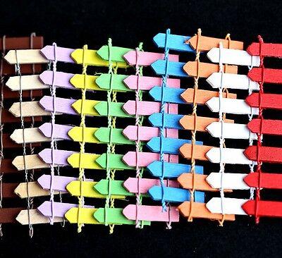 FD2194 Miniature Dollhouse Garden Craft Fairy Bonsai Decor ~Colorful Fence~ 1PC