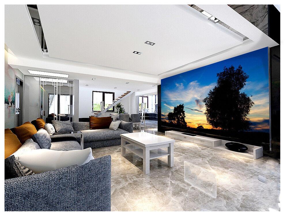 3D Blauer Himmel Baum 933 Tapete Wandgemälde Tapeten Bild Familie DE Lemon
