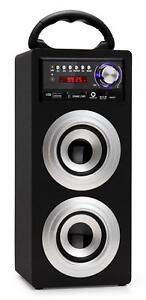 ENCEINTE HAUT-PARLEUR PORTABLE BLUETOOTH STEREO SYSTEME MP3 USB FM AUX SD ARGENT