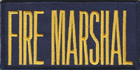 Fire Marshal 2 X 4 Front Panel Patch Gold On Navy Blue (4 By 2)