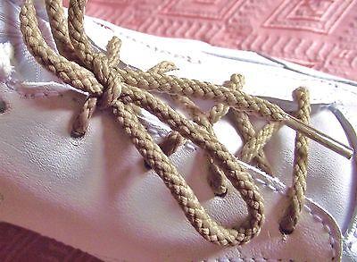 LACETS Rond Chaussure 4//5 oeillets 63 cm Paire shoelace Beige ado enfant homme