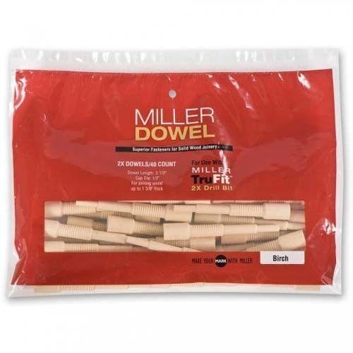 Miller 2X Large Dowels 100 pack Oak 2X Range