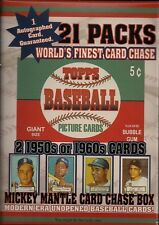 1952 Unopened Topps Mantle Rookie Card Chase Box 21 Pks/2-50/60 card W/Autograph