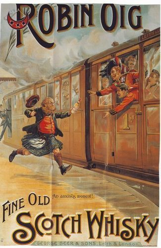 1898 Whisky Advertisement A3 Poster Reprint
