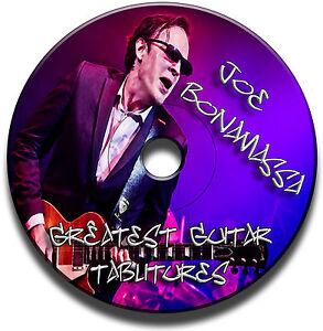 Joe-Bonamassa-Blues-Rock-Guitar-Tab-Tablature-Song-Book-scolarite-Logiciel-CD