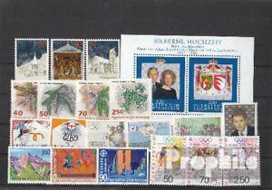 Briefmarken-Liechtenstein-gestempelt-1992-kompletter-Jahrgang-Liechtenstein-gest
